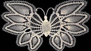 getlinkyoutube.com-Mariposas Tejidas en crochet adornos Parte 1
