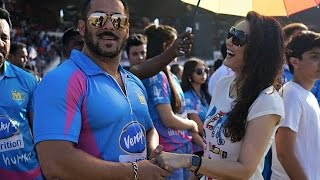 getlinkyoutube.com-Salman Khan, Sunny Deol others at CCL Cricket Match in Ahmedabad Gujarat