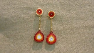 getlinkyoutube.com-Make Sparkling Quilling Earrings - Tutorial