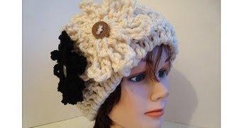 getlinkyoutube.com-How to Crochet a CLOCHE HAT, adult size