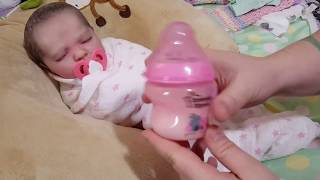 getlinkyoutube.com-Morning Routine! Feeding Baby! Nasty Poop Diaper! Happy Baby! Reborn Baby Doll! Nlovewithreborns2011