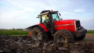 getlinkyoutube.com-Massey Ferguson 8160 ploughing 2014