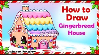 getlinkyoutube.com-How to Draw a Pretty Gingerbread House