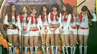 SNSD 2010 Seoul Music Awards [full] Feb03.2010 GIRLS' GENERATION Live