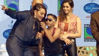getlinkyoutube.com-Sonakshi Sinha RAPS On Honey Singh's PARTY ALL NIGHT @ Indian Idol Junior
