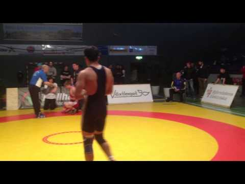 Mushtaq Ahmad wrestling 84 kg young Swedish champion 2013(2 of 4 match)