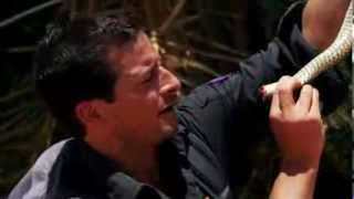 getlinkyoutube.com-Bear Grylls: Escape From Hell: Drinking blood