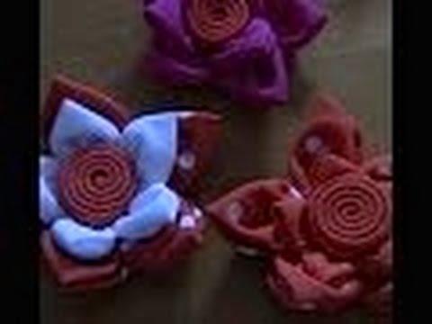 Aprenda a fazer petalas para  flor de tela e  Fuxico passo a passo
