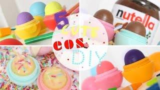5 CUTE EOS DIY - Nutella, eraser, crayon, cupcake & perfume. ENG/SWE SUB