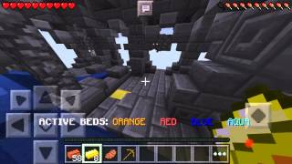 getlinkyoutube.com-[Deutsch] Minecraft PE 0.13.1 Bedwars Server #1a