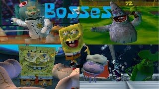 SpongeBob Battle for Bikini Bottom - All Bosses (No Damage) (1080p) width=