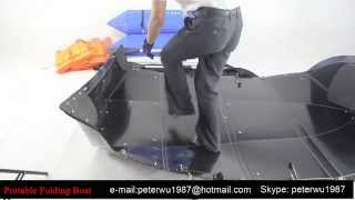 getlinkyoutube.com-How to make A Folding Kayak in 5 minutes?  Do it Youeself-Your Private Portable Boat
