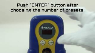HAKKO FX-888D; how to set