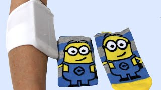 getlinkyoutube.com-How to make a Phone bracelet with a sock
