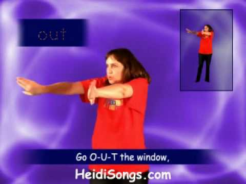 "HeidiSongs Sing & Spell Vol. 4 - OUT Song video sample - from ""Fun Songs for more Sight Words"""