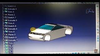 getlinkyoutube.com-CATIA V5 | CAR DESIGN 1 | Surface and wireframe