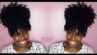 getlinkyoutube.com-Natural hair | Puff & Bangs
