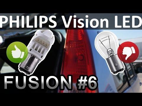 Двухконтактная светодиодная лампа p21 5w philips vision led