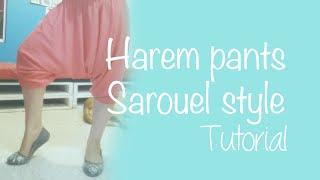 getlinkyoutube.com-♥ How to make harem pants (sarouel style) ☁