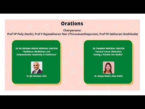Orations Dr. MK Krishna Menon oration and Dr.Thankam memorial oration