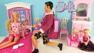getlinkyoutube.com-Мультик с куклами Штеффи Малыши играют дома Познавательное видео для детей Мультфильм для девочек