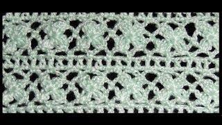 getlinkyoutube.com-Crochet : Punto Trebol de 4 hojas