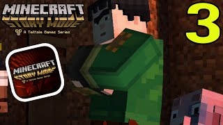 "getlinkyoutube.com-Minecraft Story Mode (iPhone/iOS/Android) Walkthrough Part 3: ""New Creature Attacks"" Gameplay"