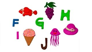 getlinkyoutube.com-How to make Play-Doh Alphabet, Play-Doh ABC (F, G, H, I, J)