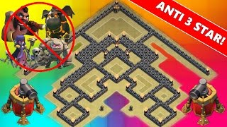 getlinkyoutube.com-Clash Of Clans | NEW TH9 ANTI 3 STAR WAR BASE! | Town Hall 9 2 Air Sweeper 2015 !
