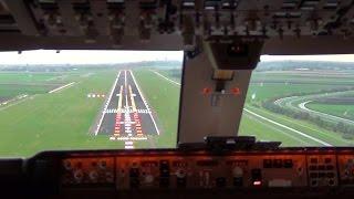 getlinkyoutube.com-Cockpit view - Boeing 747-400F Landing Amsterdam Schiphol