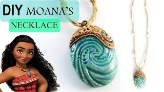 getlinkyoutube.com-DIY Moana Heart of Te Fiti Necklace || Polymer Clay Tutorial || Maive Ferrando