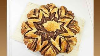 getlinkyoutube.com-Nutella Blume / Brioche Blume / Nutella Stern / Nutellablume