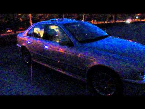 Подсветка наружных ручек BMW E39.MP4