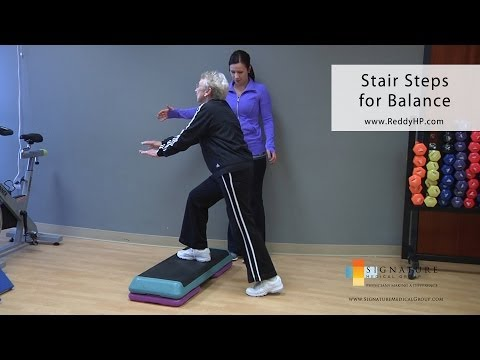 Stair Step Exercise for Older Adults to Improve Balance