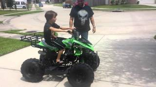 getlinkyoutube.com-Seth gets an ATV for his 10th birthday