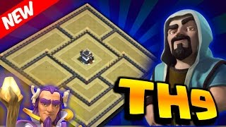 getlinkyoutube.com-BEST TOWN HALL 9 (TH9) - Anti Ground & Air - WAR BASE - Th11 Update