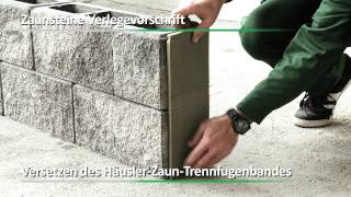 getlinkyoutube.com-Häusler Gesellschaft m.b.H. - Verarbeitungsvideo Zaunsteine