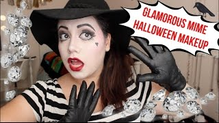 getlinkyoutube.com-Glamorous Mime | Halloween Makeup 2015