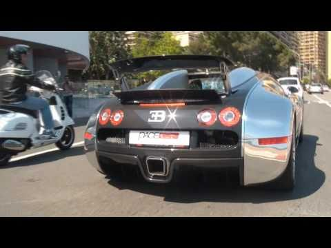 [HD] Bugatti Veyron Pur Sang: MASSIVE ACCELERATION - Top Marques Monaco 2011