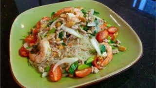 Glass Noodle Salad Recipe (Yum Woon Sen) ยำวุ้นเส้น - Hot Thai Kitchen!