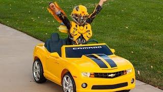 getlinkyoutube.com-Bumblebee Unboxing (Transformers) - Kid Motorz Yellow Camaro!