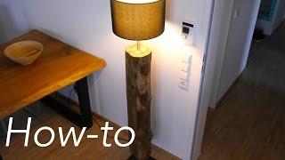 getlinkyoutube.com-DIY Designer Lampe Treibholz bauen Anleitung