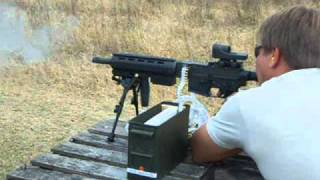 getlinkyoutube.com-22LR Full Auto Belt-fed! 1000Rnds,Machine Gun, LM7, Colt M16A1