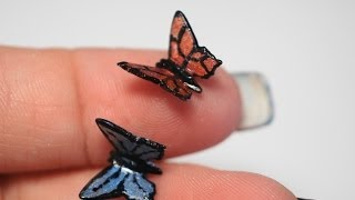 getlinkyoutube.com-Miniature Butterfly Tutorial, Polymer Clay Tutorial