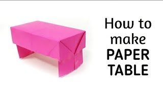 getlinkyoutube.com-How to make origami paper table - 1 | Origami / Paper Folding Craft, Videos & Tutorials.