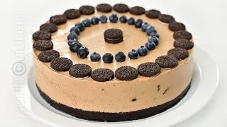 getlinkyoutube.com-Cheesecake fara coacere cu Oreo si Nutella | JamilaCuisine