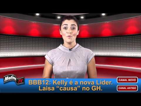 BBB12: Kelly é a nova líder. Laisa deixa os seios à mostra no Gran Hermano.
