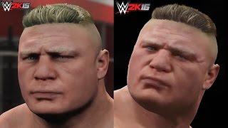 WWE 2K16 vs WWE 2K15 Superstar Face Screenshot Comparison FINAL! (Brock Lesnar, Stone Cold & More)