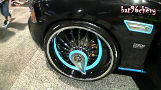 "Black/ REFLECTIVE Teal Dodge Charger on 26"" DUB Skirts Shokka/Azzmakas - 1080p HD"