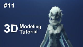 [Part 11/ 40] Anime Character 3D Modeling Tutorial II - Hair front
